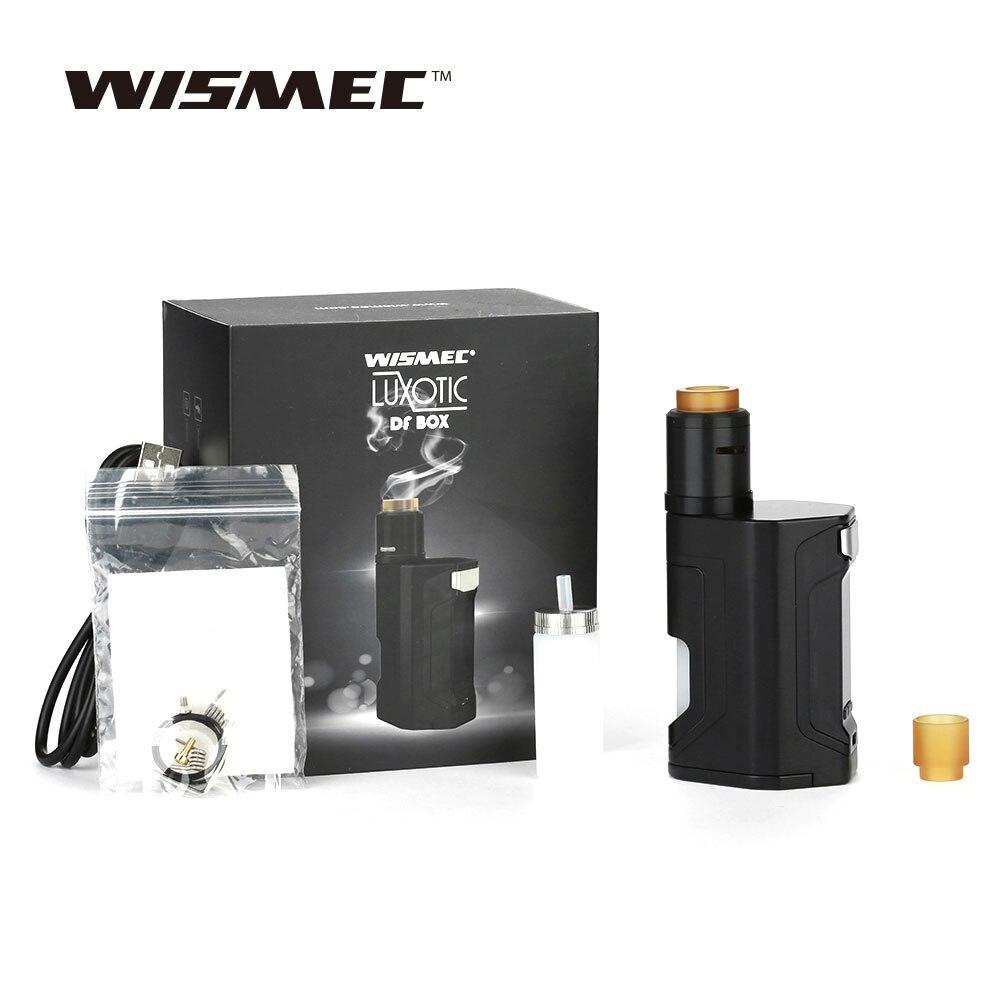 Nouveau Kit Original WISMEC Luxotic DF boîte 200 W TC avec Guillotine Version2 RDA & 7 ml grande bouteille 200 W Max sortie Squonker Kit vape