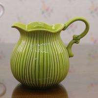 European Ceramic Vase Table Mediterranean Single Ear American Decorative Vase Milk Pot Wedding Decoration Vases For Flowers