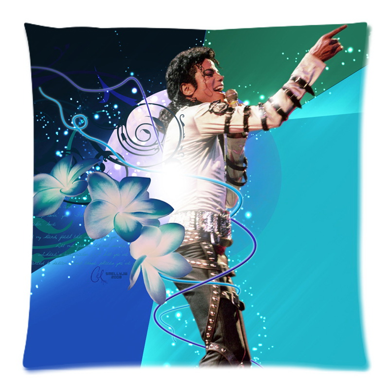 Soft Polyester Square Pillow Case Sofa Cushion Cover For Car Chair michael jackson Cushion Case 45x45cm Without Stuffing