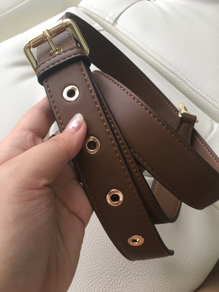 High Quality Multicolor Female Adjustable Thin Pin Buckle Vintage Genuine Leather Shoulder Strap Accessories for Women Bag Belt photo review