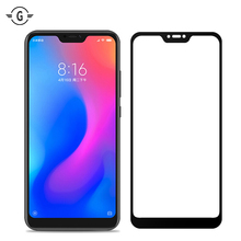 3D Full Cover Curved xiomi redmi6 pro Tempered Glass Screen Protective glass For Xiaomi A2 Lite Protector Black