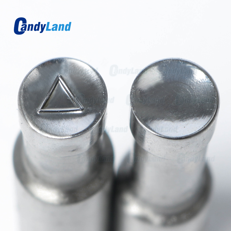 CandyLand Triangle Milk Tablet Die 3D Punch Press Mold Candy Punching Die Custom Logo Calcium Tablet Punch Die For TDP5 MachineCandyLand Triangle Milk Tablet Die 3D Punch Press Mold Candy Punching Die Custom Logo Calcium Tablet Punch Die For TDP5 Machine