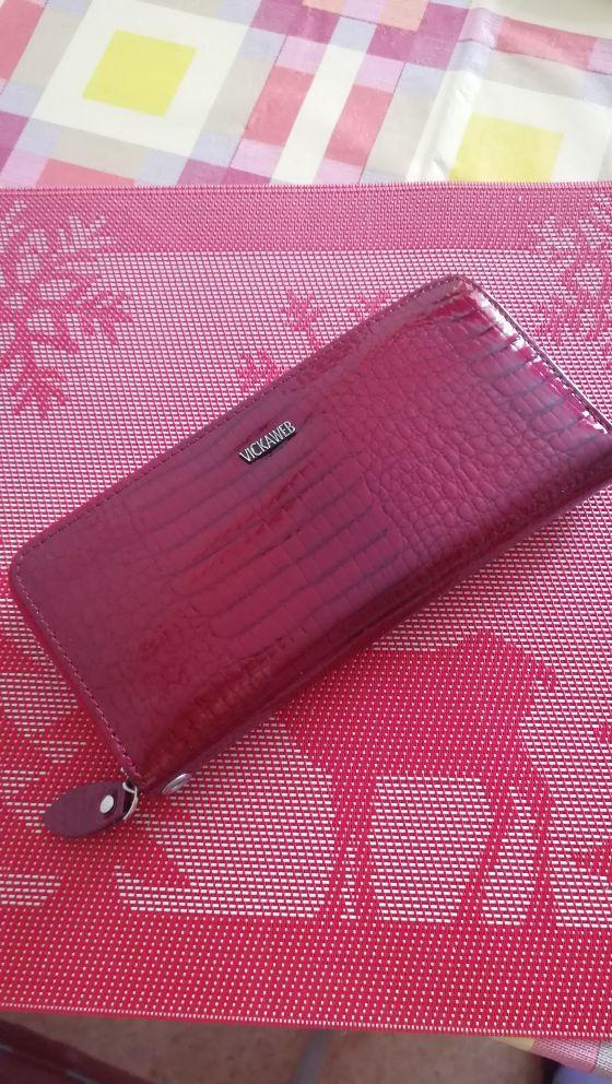 VICKAWEB Wristlet Wallet Purse Genuine Leather Wallet Female Long Zipper Women Wallets Card Holder Clutch Ladies Wallets AE38 photo review