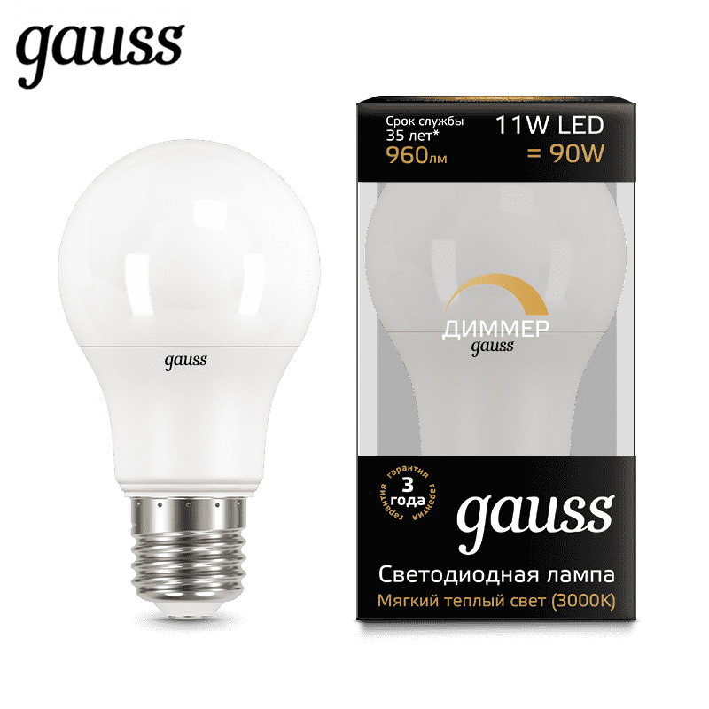 LED lamp dimmable bulb diode E27 A60 11W 3000K 4100K Gauss Light Cold White Warm White Lampada Ampoule Bombilla Lamp Light фильтр для воды honeywell ff06 3 4 aa