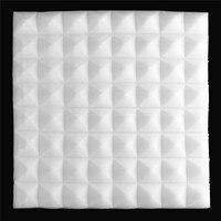 6pcs Set 500x500x55mm Acoustic Sound Stop Absorption Foam Pyramid Studio Soundproof Sponge For KTV Drum Room
