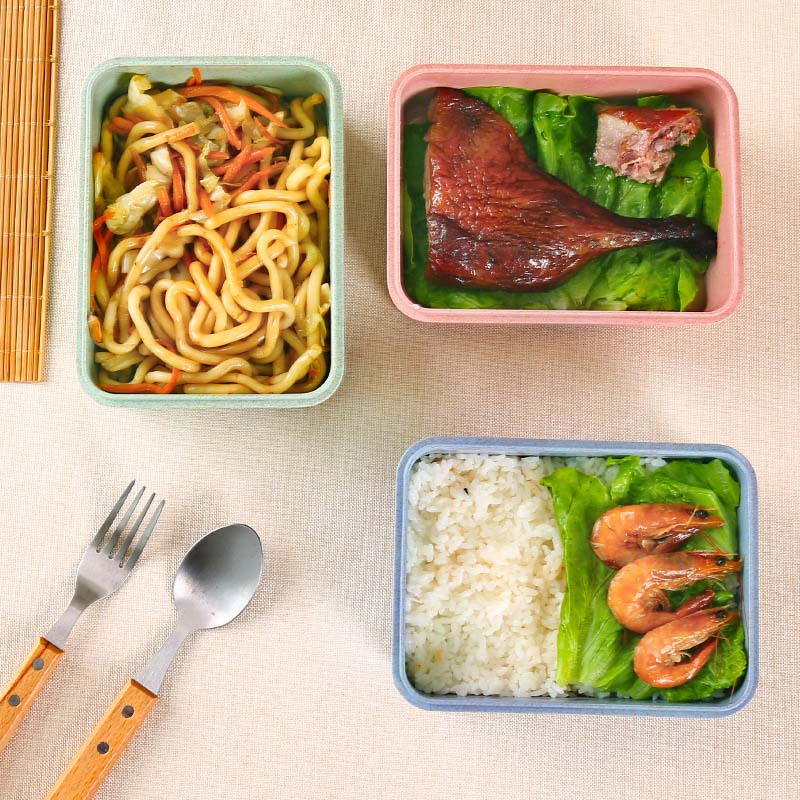 Hoomall Kitchen Plastic Food Container Lunch Boxes Microwaveable Lunch Bento Box For Dinner Portable Food Kids Picnic Boxes