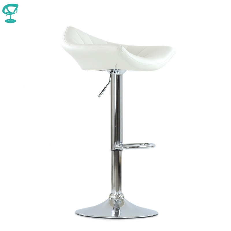 N44CrPuWhite Barneo N-44 PU Leather Kitchen Breakfast Bar Stool Swivel Bar Chair White Color Free Shipping In Russia