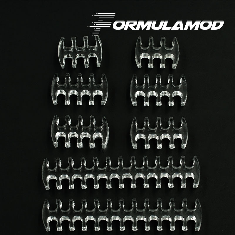 FormulaMod Fm-CombKit, Transparent Cable Comb Kits, One Set For Cables, 2pcs 24pin/4pcs 8pin/2pcs 6pin