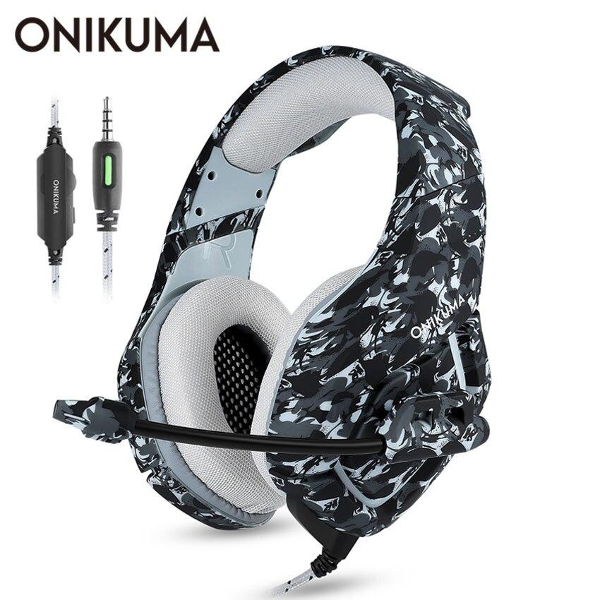ONIKUMA K1 Casque Camouflage PS4 Headset mit Mic Stereo Gaming Kopfhörer für Handy Neue Xbox One Laptop PC