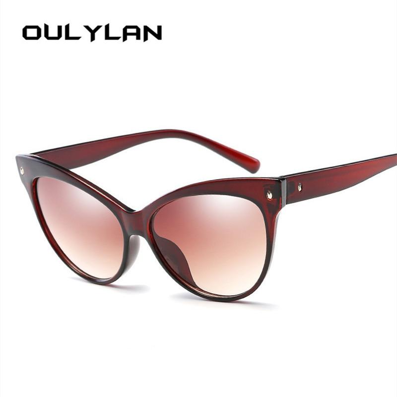 Oulylan Weibliche Katzenauge Sonnenbrille Frauen Marke Designer ...