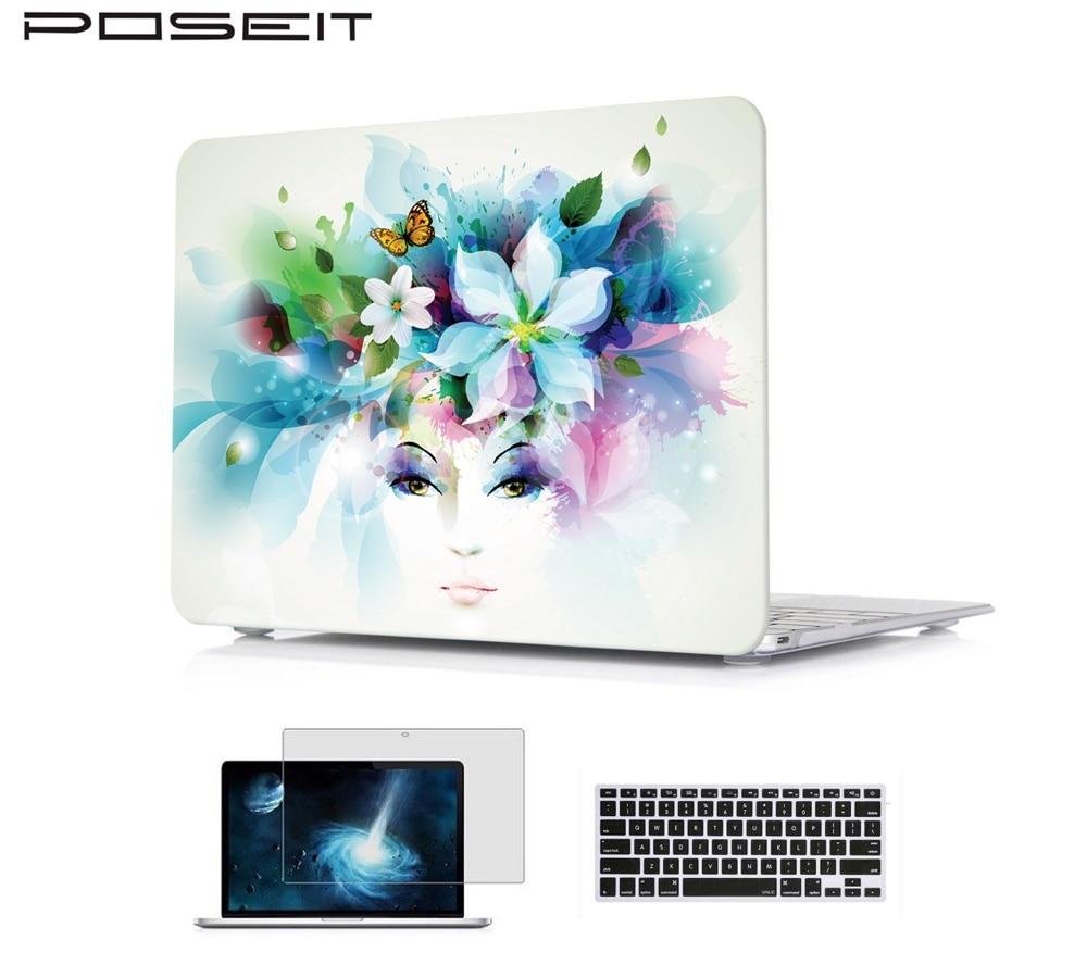 Diligente Hard Case + Keyboard Cover + Screen Protector Per Macbook Air 11 13 Pollice Pro13 15 Retina 12 13 15 Laptop Case Protettivo Guscio Borsa Colori Fantasiosi