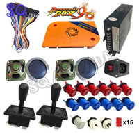 2 Player DIY Arcade Kit Pandora box 9D 2222 in 1 game board and joystick American HAPP Style Push Button for Arcade Machine