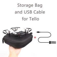 EVA Tello נשיאת מקרה אחסון תיבת וסוללה טעינת USB כבל עבור DJI Tello תיק נייד מגן מקרה Drone מטען