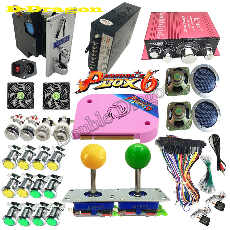 DIY Arcade Bundles Kits Parts video game Pandora Box 6 1300 in 1 With Power Supply
