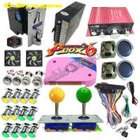 2-Player DIY Arcade Joystick Kits With 20 LED Arcade Buttons + 2 Joysticks  + 2 USB Encoder Kit + Cables Arcade Game Parts Set