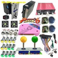 DIY Arcade Bundles Kits Parts video game Pandora Box 6 1300 in 1 With Power Supply Jamma wiring Joystick illuminated Push Button