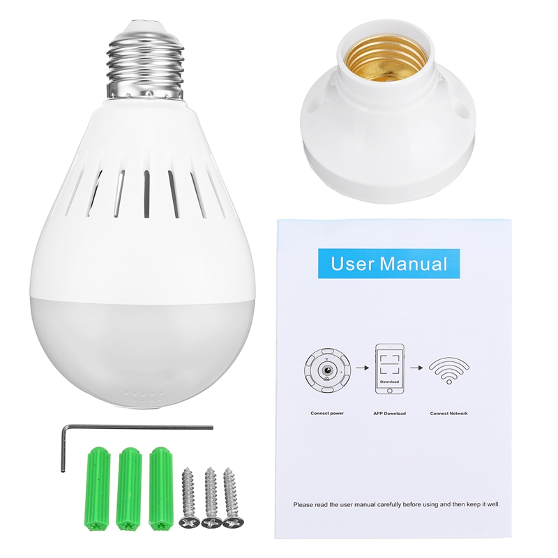 Hot 128G Smart Home LED Lamp Bulb E27 HD 360 Degree Panoramic Wireless WiFi IP Camera Bulb Security FIsh Eye Camera Lamp smart bulb e27 7w led bulb energy saving lamp color changeable smart bulb led lighting for iphone android home bedroom lighitng