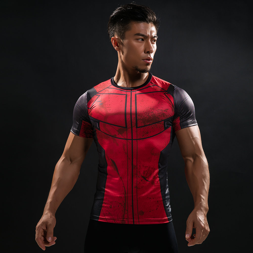 2018 Summer Compression Brand Men T Shirt 3D Marvel DeadPool T-Shirt Men G ym Bodybuilding Crossfit Fitness Clothing Tops & Tees