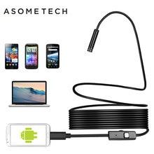 Mini 7mm Lens Mikro USB OTG Endoskop Muayene Kamera 1 M/1.5 M/2 M/3.5 m/5 M Su Geçirmez Yılan Boru Android Borescope Kamera