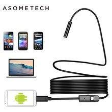 Mini telecamera per ispezione endoscopio OTG micro USB con obiettivo da 7mm 1M/1.5M/2M/3.5M/5M telecamera per boroscopio Android con tubo a serpente impermeabile