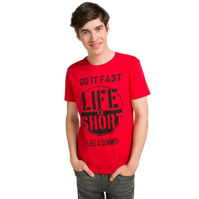 Gloria Jeans Оригинальная футболка с круглым вырезом мужская BTS011833