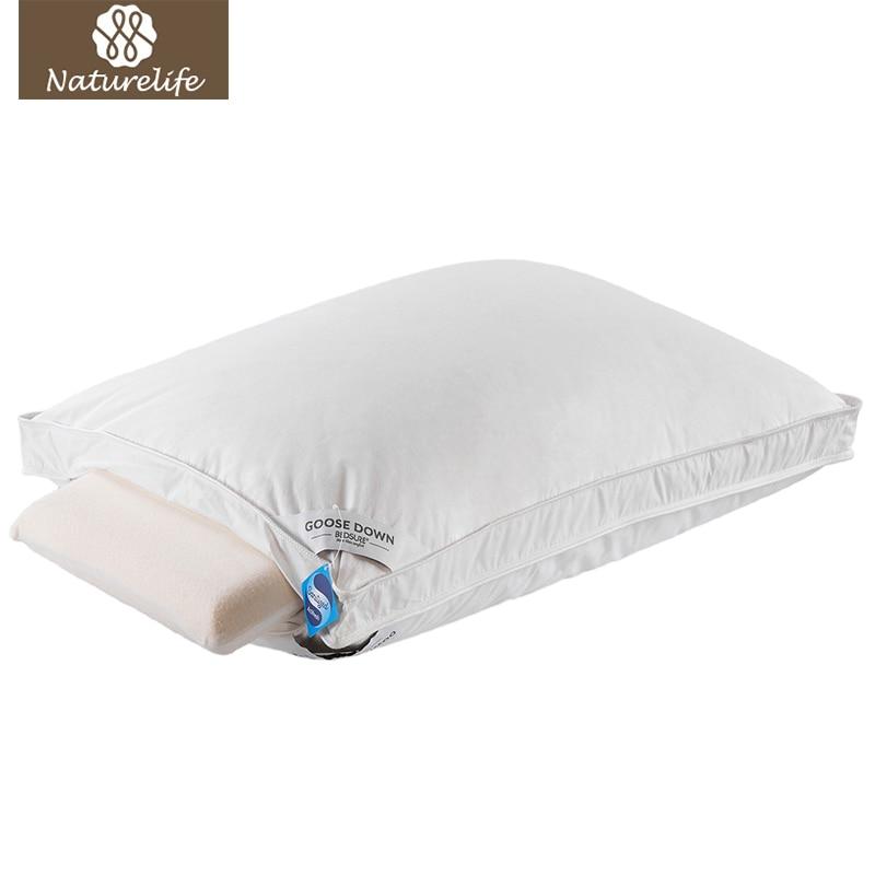 Naturelife Goose Down Feather Bed Pillow 100 Cotton