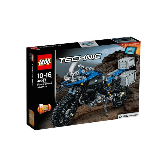 Конструктор LEGO TECHNIC Приключения на BMW R 1200 GS 42063-L