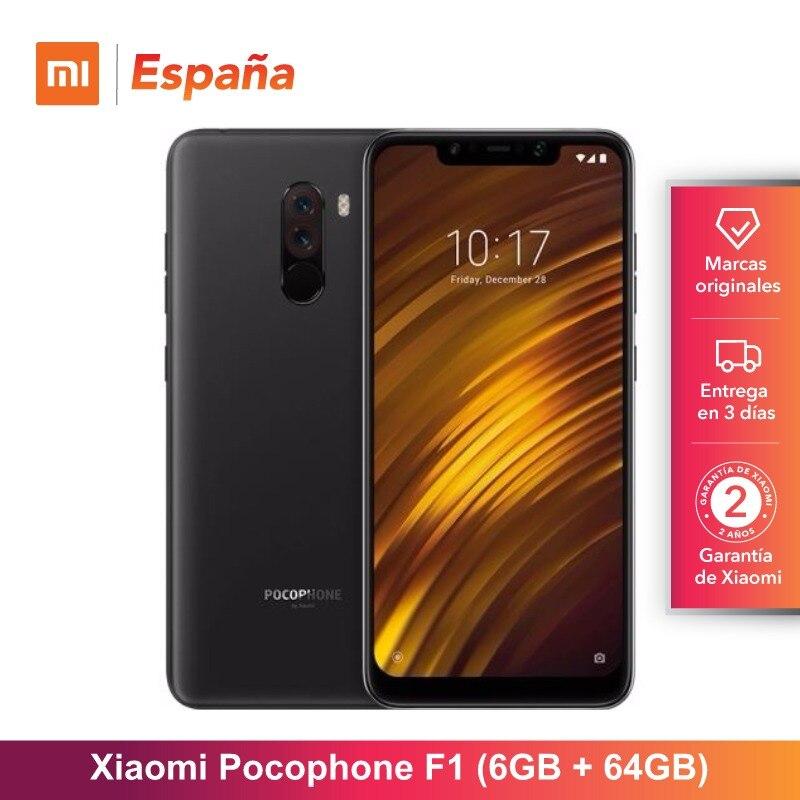 [Version mondiale pour l'espagne] Xiaomi Pocophone F1 (memia interna de 64 GB, RAM de 6 GB, Camara 12MP + 5MP, Snapdragon 845) Movil