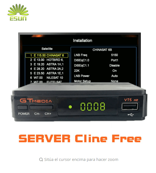 1 year Europe Cline in freesat GT media V7S HD with USB free wifi FTA DVB