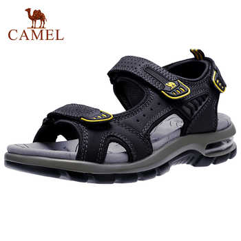 CAMEL Genuine Leather Men's Sandals Hiking Sandal Summer Beach Water Waterproof Outdoor Walking Cowhide Men Shoes - DISCOUNT ITEM  45% OFF All Category