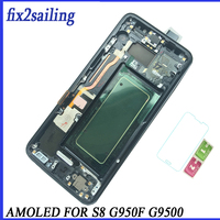 Super AMOLED Lcd Display For Samsung galaxy s8 screen replacement Lcd digitizer G950F G950FD G9500 G950U s8 lcd with frame