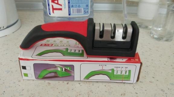 Dropshipping Knife Sharpener Quick Sharpener Professional 3 Stages Sharpener Knife Grinder Non-Slip Silicone Rubber