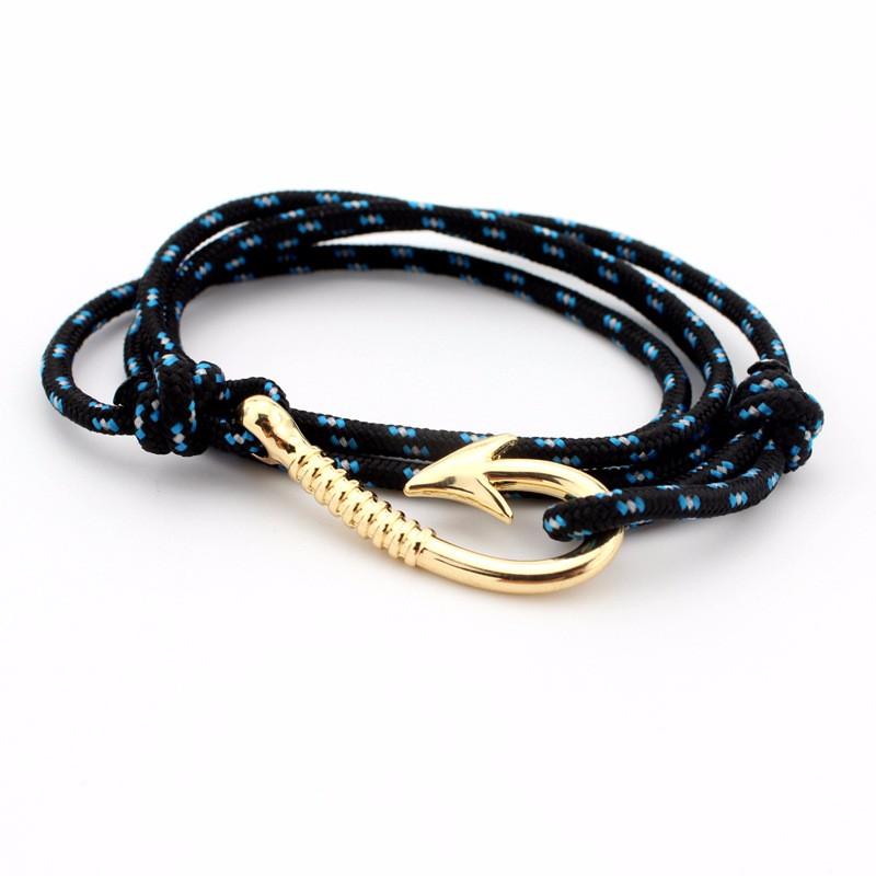TANGYIN Fashion Hot Multilayer Rope Bracelet hope Anchor Sailor Anchor Bracelets Men For Women Best Gift Hook Bracelet(China)