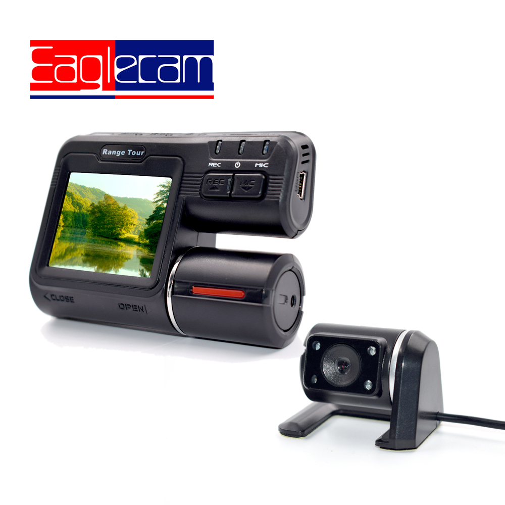 Dual Lens Camcorder i1000s Auto Car DVRs Dual Camera Full HD 1080P Dash Cam Driving Recorder