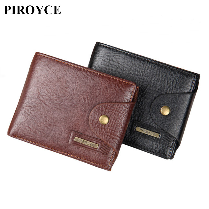 Genuine Leather Small Wallets Men Short Hasp Soft Purse Male ID Credit Card Holder with Coin Pocket Money Bags Famous Brand 2017 hot sale leather men s wallets famous brand casual short purses male small wallets cash card holder high quality money bags 2017