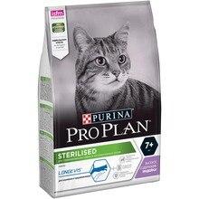 Сухой корм Purina Pro Plan для стерилизованных кошек и кастрированных котов старше 7 лет, с индейкой, 4 упаковки по 3 кг