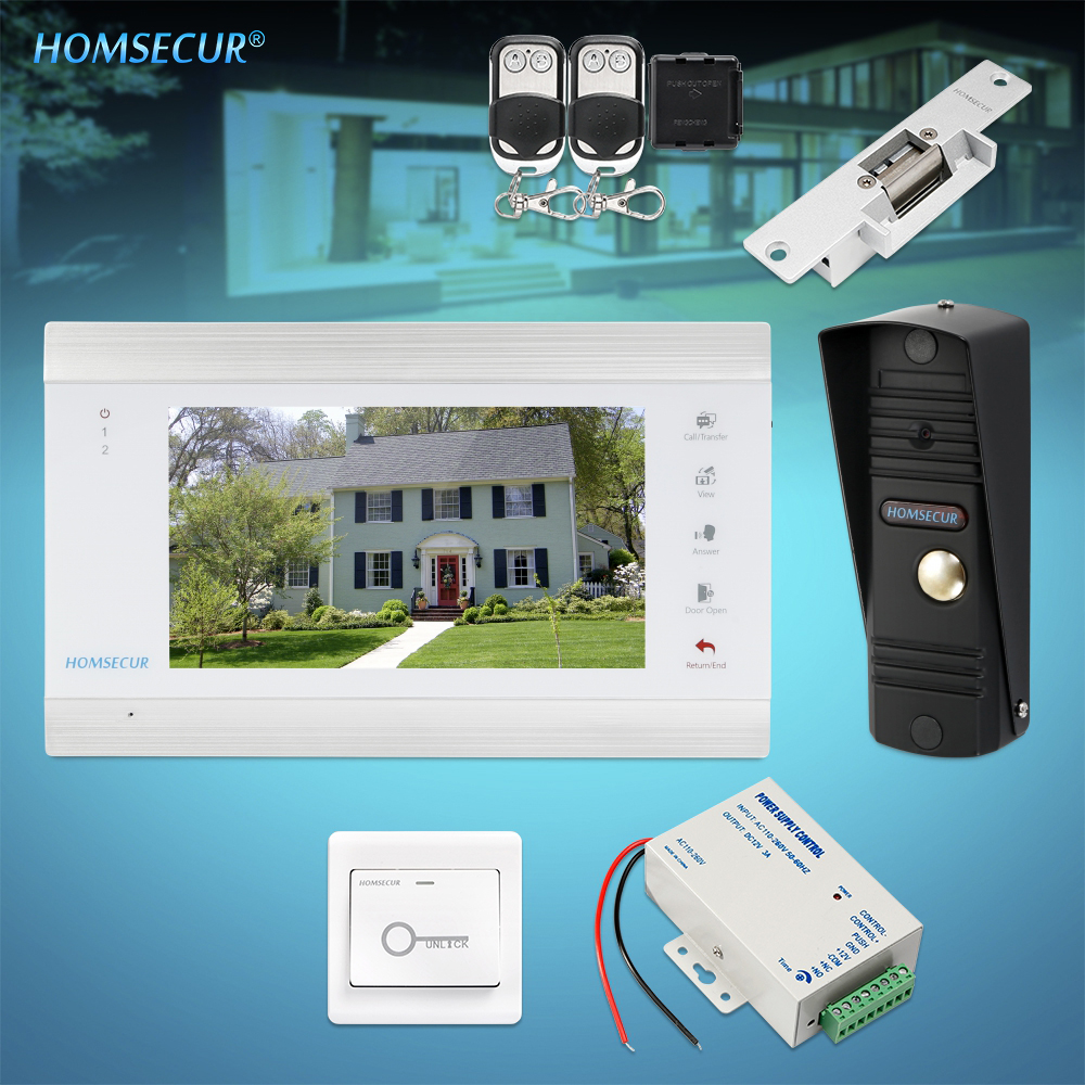 HOMSECUR 7 Video Door Entry Security Intercom 1.3MP with Black Camera for Home Security (BC011HD-B +BM705HD-W)HOMSECUR 7 Video Door Entry Security Intercom 1.3MP with Black Camera for Home Security (BC011HD-B +BM705HD-W)