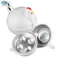 بيض المطبخ باخرة الدجاج على شكل الميكروويف 4 غلاي بيض طباخ الجدة المطبخ موقد طهي كهربائي باخرة أداة المنزل-في غلايات بيض من الأجهزة المنزلية على