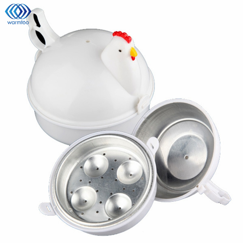 Kitchen Eggs Steamer Chicken Shaped Microwave 4 Egg Boiler Cooker Novelty Kitchen Cooking Appliances Steamer Home Tool цена