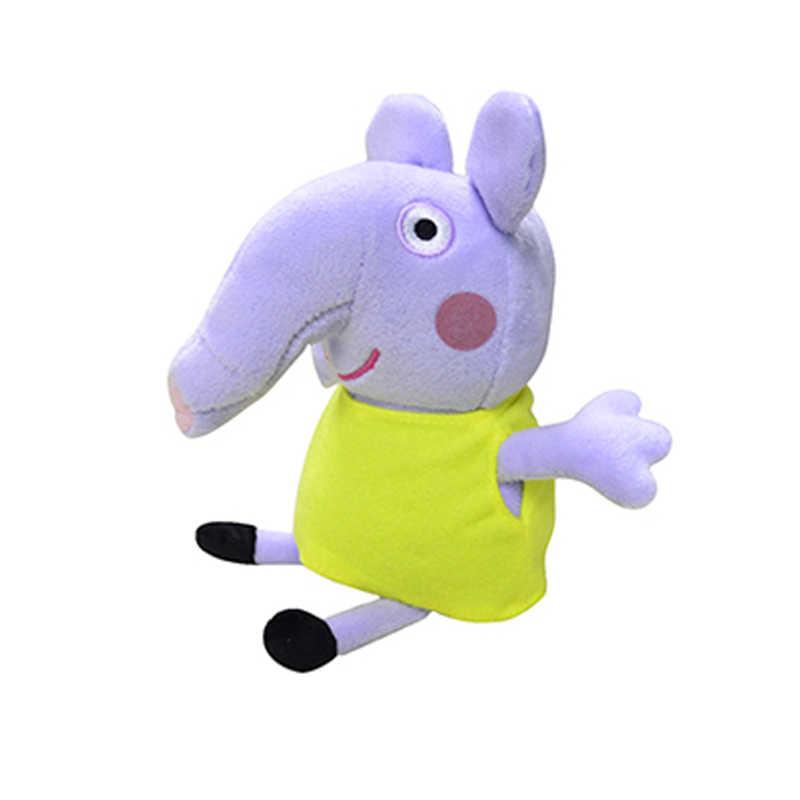 13 pçs/set 19 cm Originais George Peppa Amigos Porco Brinquedos de Pelúcia Recheado Kawaii Animal Dos Desenhos Animados Mochila De Pelúcia Carteira Meninas Meninos presente