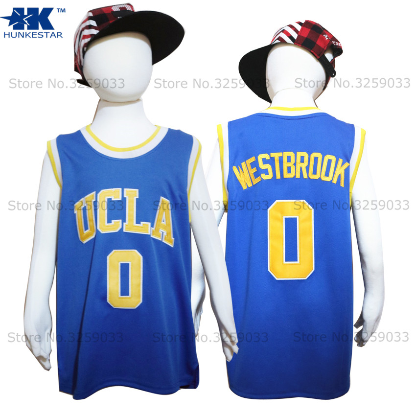 Kids Boy Russell Westbrook Jersey UCLA Bruins #0 College Basketball Jersey Youth Basket Uniforms Stitched For Children ...