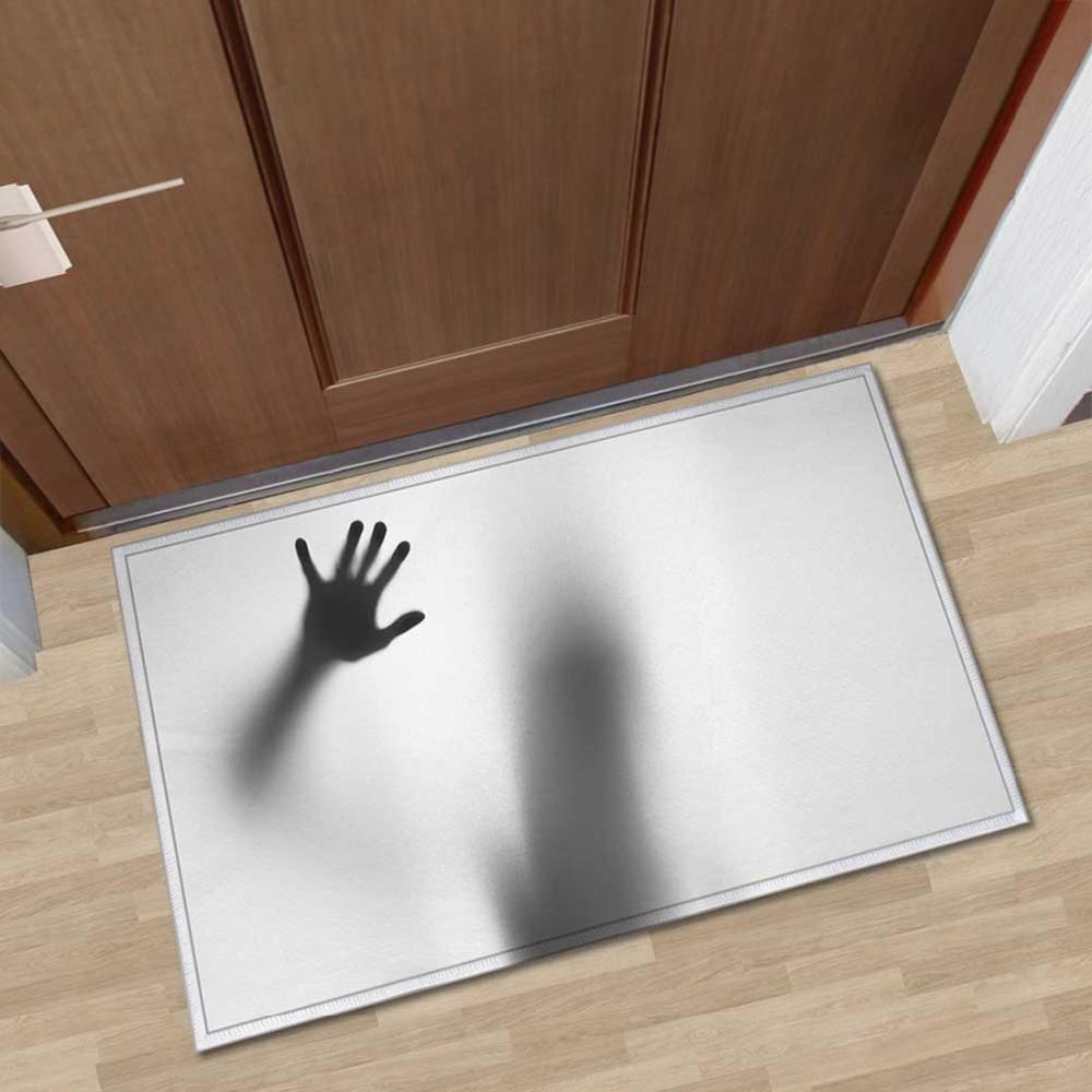 3D Anti-slip Floor Mats Halloween Scary Horrible Doormats Door Mats Living Room Bathroom Kitchen Parlor Floor Mats for Halloween