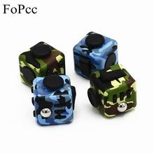FoPcc Fidget Cube Finger Toys Stress Reliever Fidget Cube Antistress Fidget Box Spin Toy Squeeze