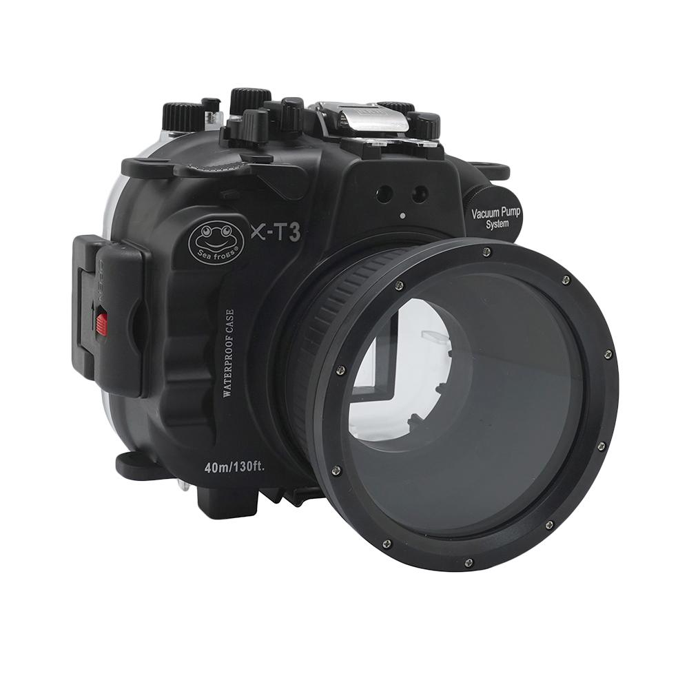 Seafrogs 40m 130ft Underwater Camera Housing Case For Fuji Fujifilm X-T3 XT3 Camera With 16-50mm 18-55mm 56mm 60mm Lens