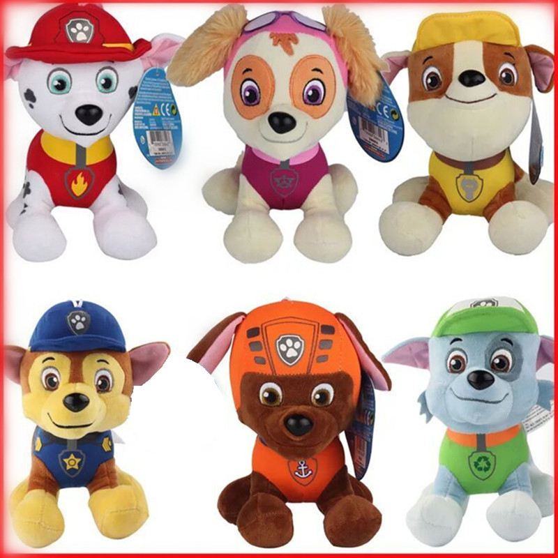 Paw dog 10cm 20cm 6color Plush toys Cotton Soft Dog Puppy Canine Plush Dolls Juguetes Canine Brinquedos TV broadcast impacted canine an overview