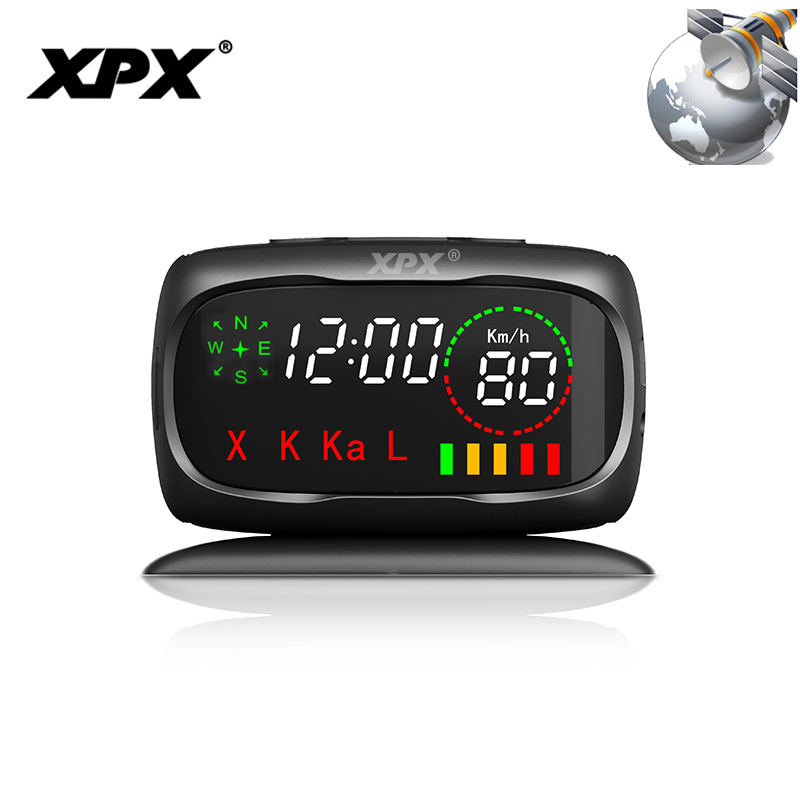 Radar detector XPX G549 Radar detector for russia Car detector GPS 360 Degree X K CT L Antiradar Speed measurement Anti radar chuangzhuo 1 2 lcd intelligent full frequency conversion 360 radar detector for car black orange