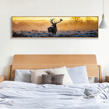 SD LINLEEHON Elk Deer Forest Landscape Wall Art Canvas Painting Nordic Posters And Prints Pictures For Living Room Decor