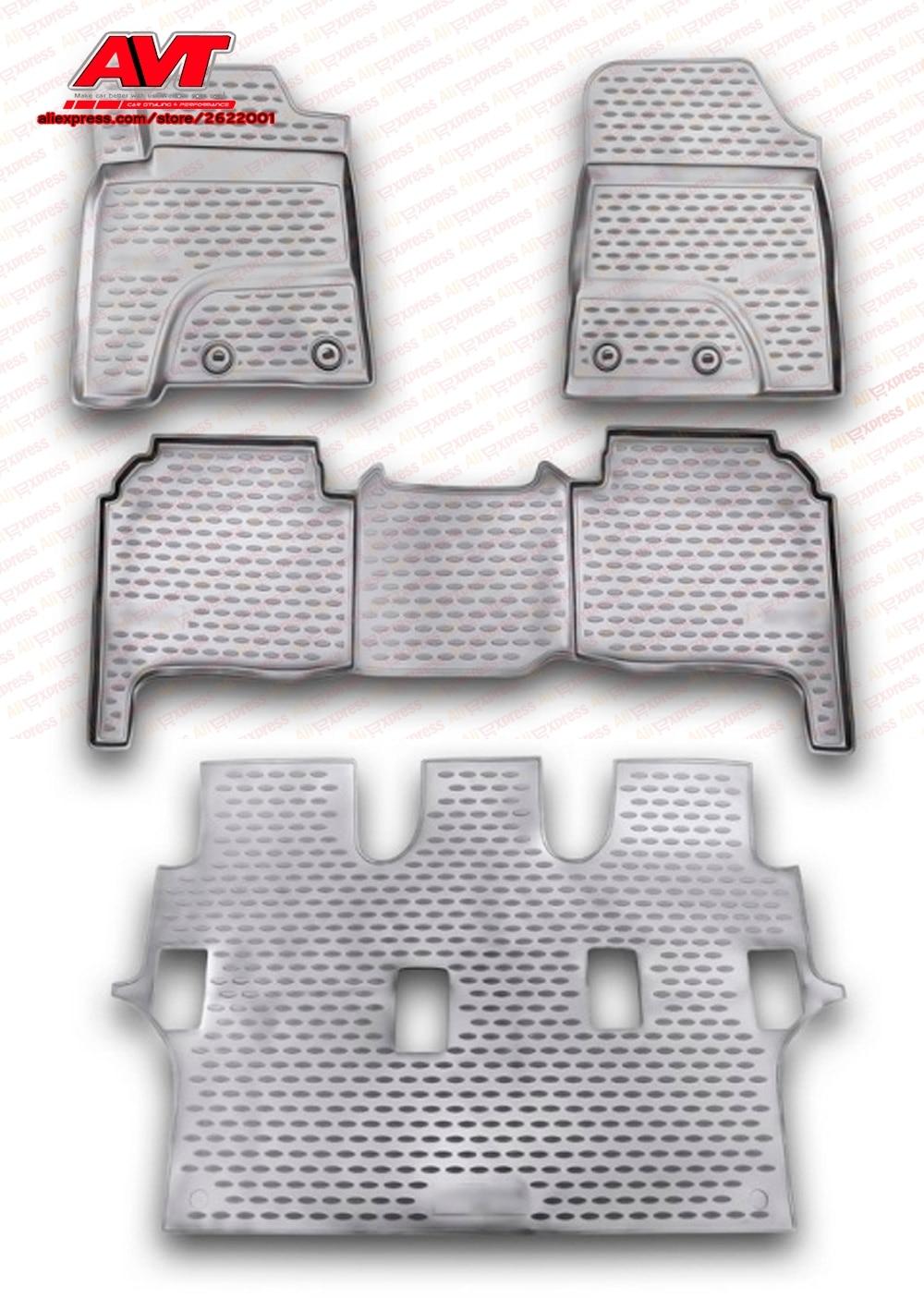 Tapis de sol pour Toyota Land Cruiser 200 2007-2012 4 pièces en caoutchouc tapis en caoutchouc antidérapant intérieur voiture accessoires de coiffure