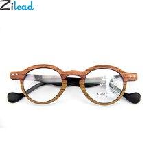 Zilead Retro Redonda Pequena Dupla Moldura de Madeira Óculos Para Presbiopia  Óculos de Leitura Multifocal lente Míope Óculos ocu. bfbdac5bdc