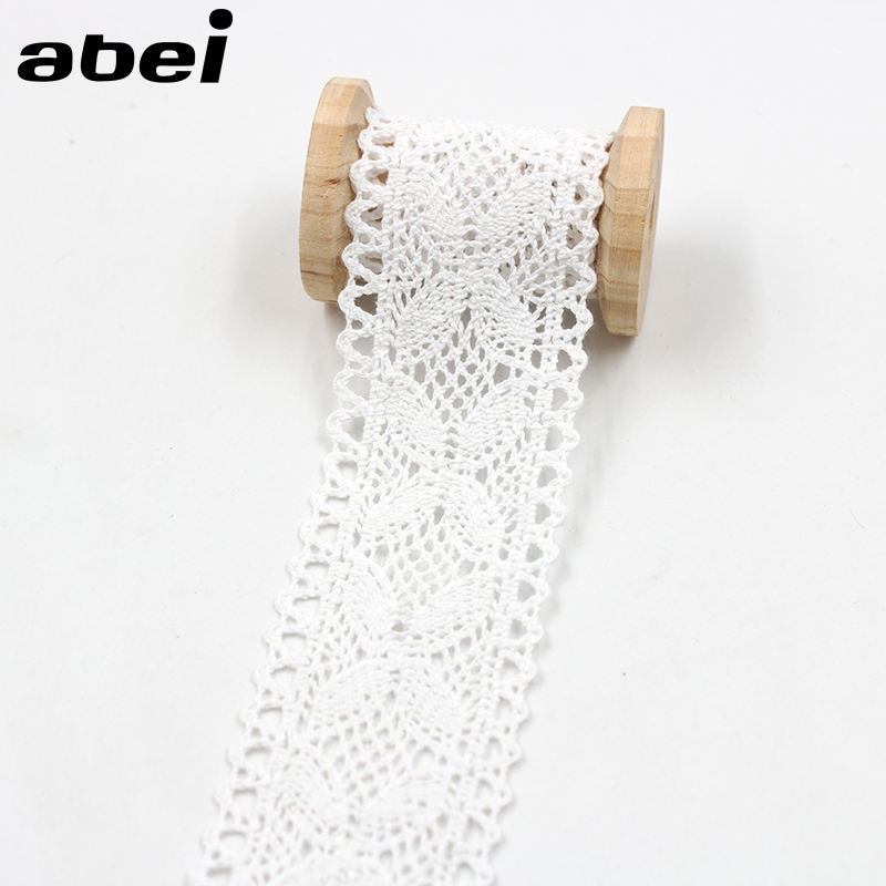 5yards/lot 4cm White Cotton Lace Trims DIY Curtain Tablecover Craft Handmade Hometexile Sewing Accessories